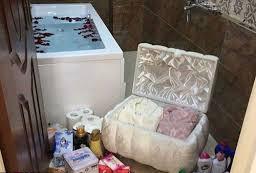 عکس, تزیین حمام و وسایل آن در جهاز چینی