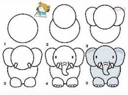 عکس, آموزش کشیدن فیل کارتونی مرحله به مرحله