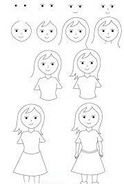 عکس, الگوی کشیدن دختر نقاشی دختر کودکانه