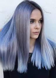 عکس, فرمول دقیق رنگ موی بلوند خاکستری تا آبی یخ آمبره