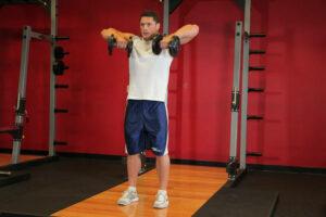عکس, تمرینات ورزشی سرشانه با دمبل در منزل