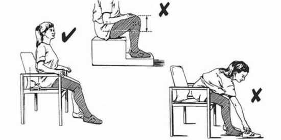 عکس, درست ایستادن نشستن توالت رفتن بعد تعویض مفصل لگن ران