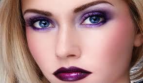 عکس, مدل آرایش های زیبا با لباس بنفش و آرایش بنفش