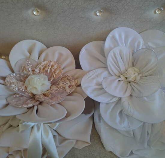 عکس, تزیین چادر عروس به شکل گلی زیبا فیلم آموزشی