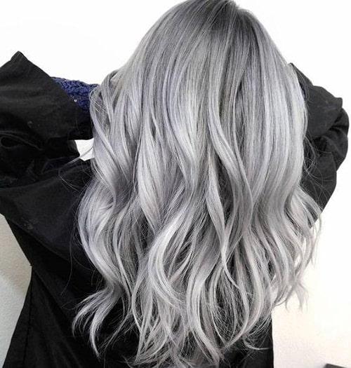 عکس, آموزش رنگ موی خیلی روشن خاکستری بدون دکلره