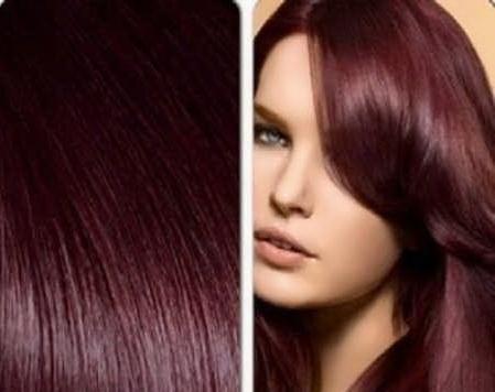 عکس, فرمول ساخت رنگ شرابی تیره روی موها