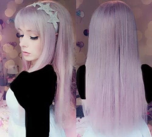 عکس, فرمول در آوردن زیباترین رنگ یاسی روی موها