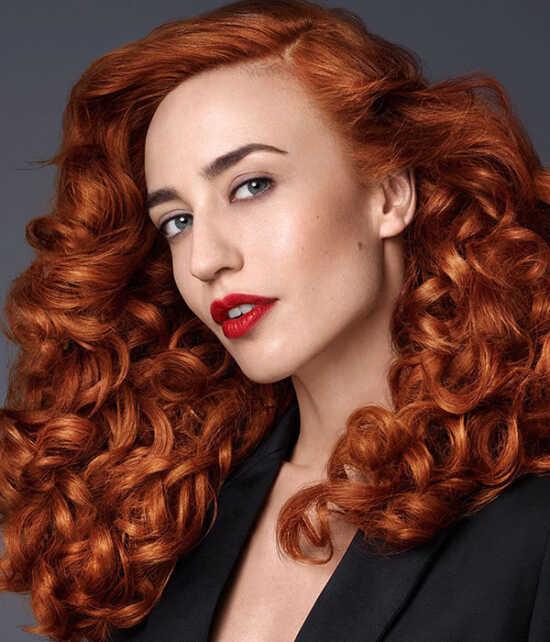 عکس, آموزش رنگ موی قرمز مسی برای شما در منزل
