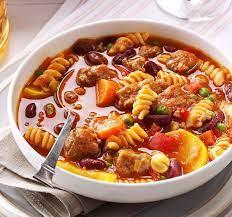 عکس, روش پختن سوپ با پاستا و مرغ یک طعمی جدید