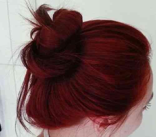 عکس, آموزش قرمز کردن مو با تناژ ماهاگونی ماگما بدون دکلره