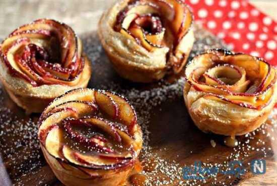 عکس, شیرینی گل رز را چگونه در منزل درست کنیم