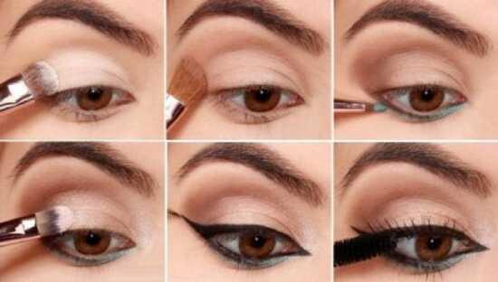 عکس, آموزش تصویری خط چشم برای گریم چشمهای دور از هم